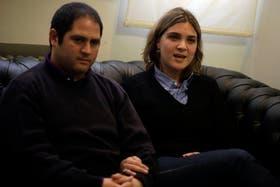 Felipe y Marcela Noble Herrera, en junio de 2010