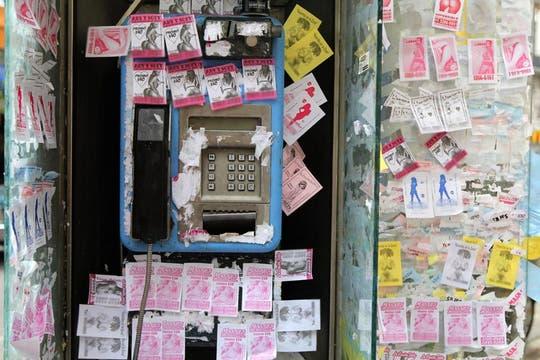 Las pegatinas se renuevan todos los días e invaden toda la ciudad. Foto: LA NACION / Ezequiel Muñoz