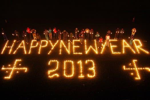 Un mensaje en India. Foto: EFE