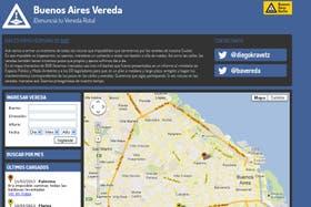 La página web para denunciar veredas rotas