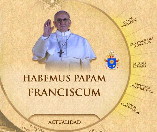 El nuevo escudo del papa Francisco ya luce en la página web del Vaticano