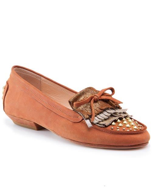 Chatitas marrón con tachas (Natacha, consultar precio).