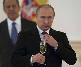 El presidente ruso, Vladimir Putin, ayer, en Moscú