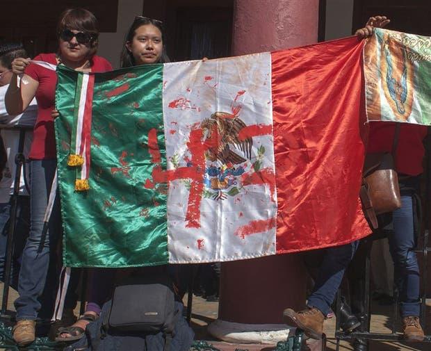 Un reclamo por los 43 de Ayotzinapa, en Chiapas