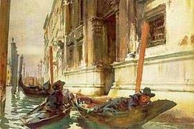 La siesta de los gondoleros, de John Singer Sargent