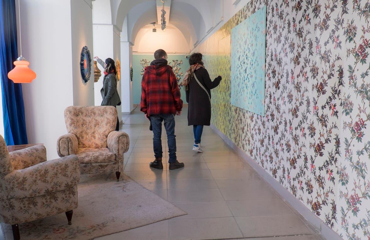 La instalación de Gabriel Baggio en la sala vecina al Patio de los Naranjos foto: LA NACION Leo Vaca/AFV