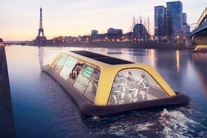Conocé el gimnasio flotante de París que funciona con energía humana