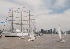 La nave, que partió en abril de este año, cumplió ayer con su 39° viaje de instrucción