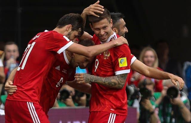 Rusia festejó en el inicio de la Copa Confederaciones