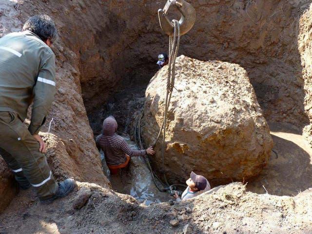 El meteorito fue hallado en Campo del Cielo