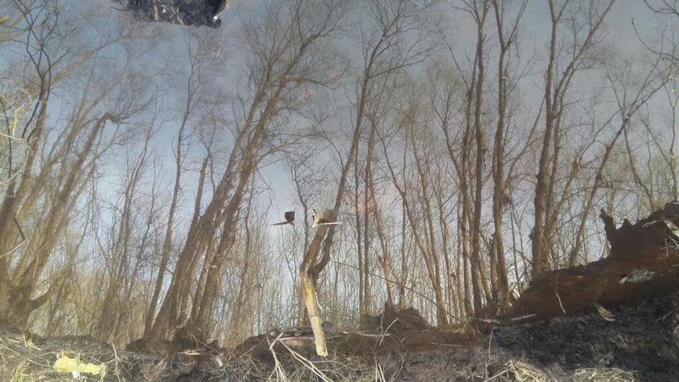 Hoy cerca de las 17.40 una aeronave de la ANAC encontró restos de una aeronave mientras sobrevolaba la zona de confluencia de los ríos Paraná Guazú y Barca Grande del delta bonaerense. Foto: Anac