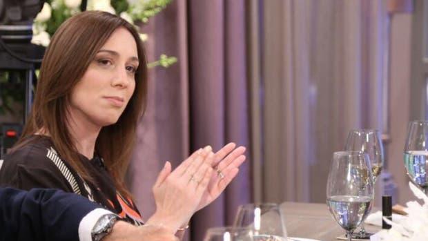La gobernadora de la provincia de Buenos Aires, María Eugenia Vidal, en la mesa de Mirtha Legrand