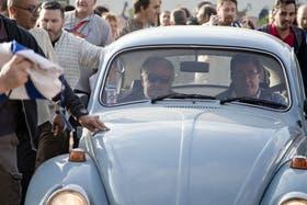Pepe fue a votar con su vehículo el pasado 26 de octubre
