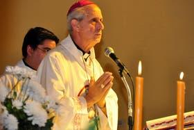 El sucesor de Bergoglio durante la misa de hoy jueves