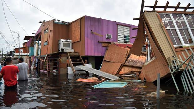 Muchos barrios de la capital puertorriqueña sufrieron inundaciones