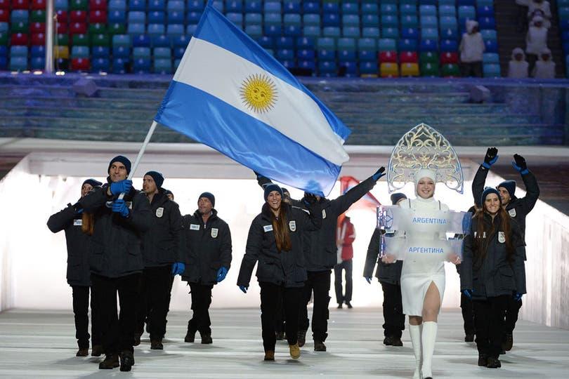 Los integrantes de la delegación argentina en Sochi. Foto: AFP