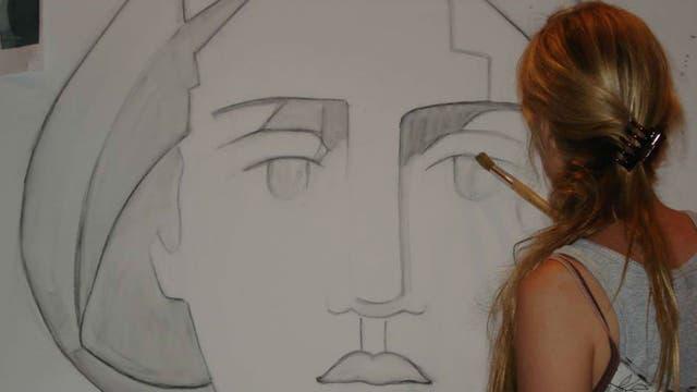 Silvia comenzó con dibujo y pintura para luego dedicarse a los murales