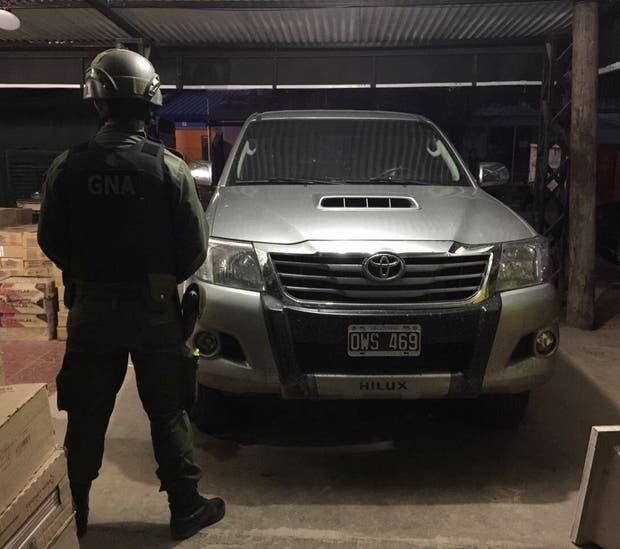 La camioneta 4x4 secuestrada en la casa del intendente Terán