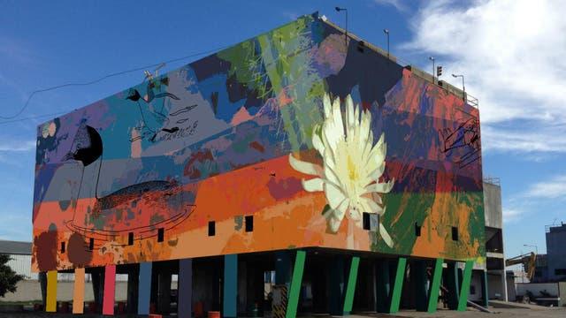 La vista sur del mural de Ezcurra