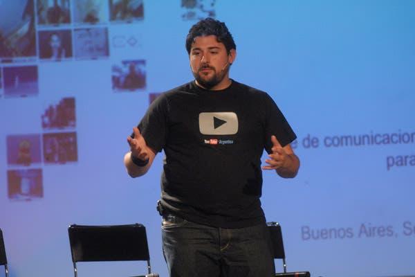 Ricardo Blanco, gerente de Comunicaciones de Google, durante la presentación de la versión argentina de YouTube