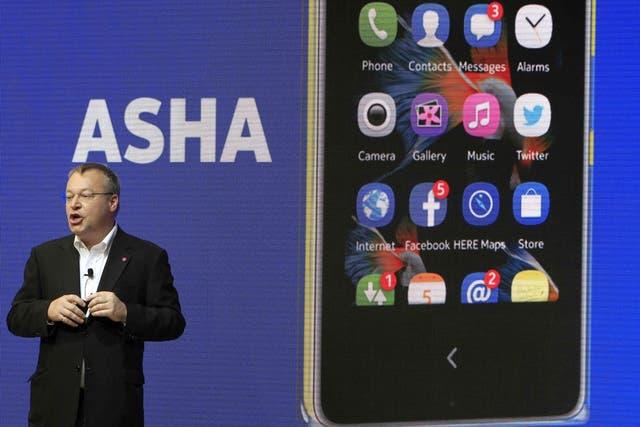 Nokia también renovó su plataforma Asha con nuevos modelos de teléfonos móviles