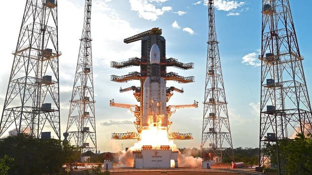 El despegue del GSLV Mark III