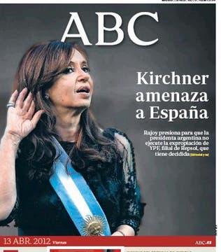 La portada de la edición impresa del ABC destaca con importancia el tema.