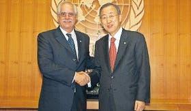 El secretario general de la ONU se reunió ayer con el canciller Taiana