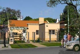Uno de los modelos de construcción del Banco Hipotecario; se trata de un inmueble con dos cuartos