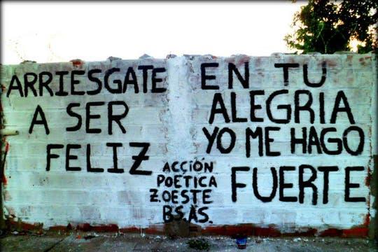 Acción Poética Buenos Aires Zona Oeste. Foto: Facebook