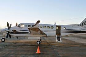 El Beechcraft B350 FL-310 de la gobernación de Santa Cruz
