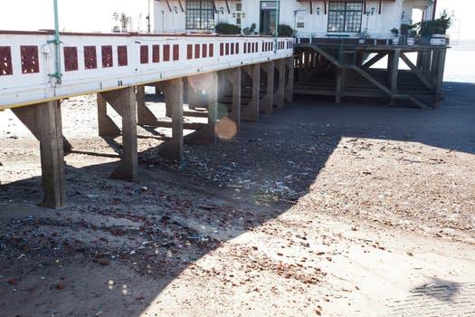 Una importante bajante en el río de La Plata dejó sin agua a gran parte de la Capital. Foto: LA NACION / Guadalupe Aizaga
