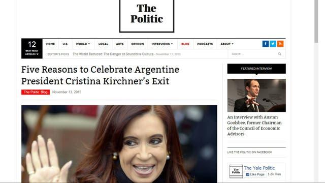 El artículo de The Politic