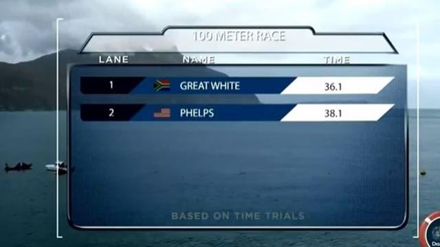 Michael Phelps se enfrentó a un tiburón blanco