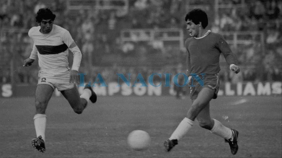 10-6-1978: una imagen el día de la caída con Platense por 2 a 1.. Foto: LA NACION