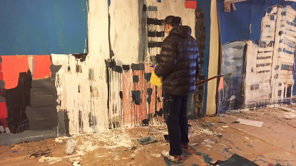 Catrin Webster, de Gales, se contó entre los 15 artistas de varios países que participaron en octubre de la Residencia de Arte en Buenos Aires