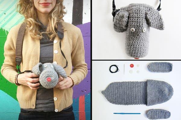 Para proteger tu cámara, y además que no tome frío, mirá este abriguito al croché con forma de perro. No parece muy práctico, pero es re simpático, ¿no?. Foto: Gentileza www.bemlegaus.com