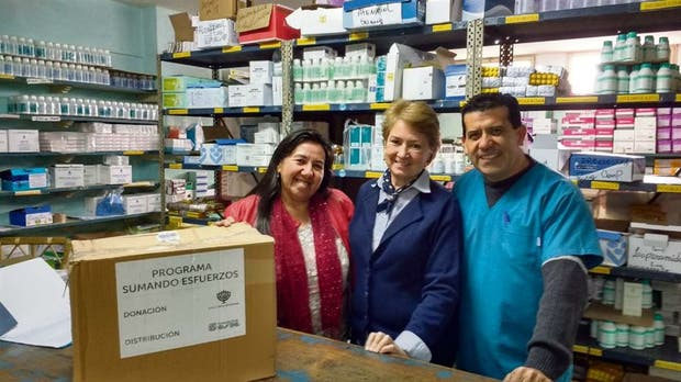 En el hospital del Monte Caseros (Corrientes) reciben las donaciones