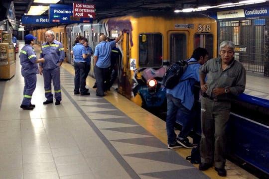 Los trenes permanecen detenidos en la estación Constitución. Foto: LA NACION / Aníbal Greco
