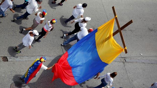 La tensión se sentía en las calles de Caracas, pero fue menor que en los últimos días