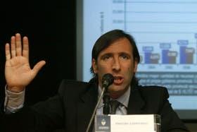 El ministro de Economía Hernán Lorenzino