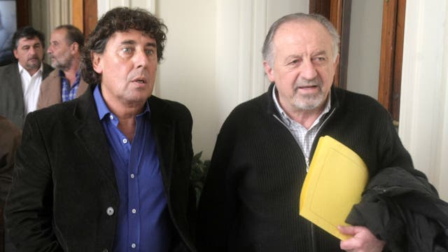 Los líderes de las CTA, Pablo Micheli y Hugo Yasky