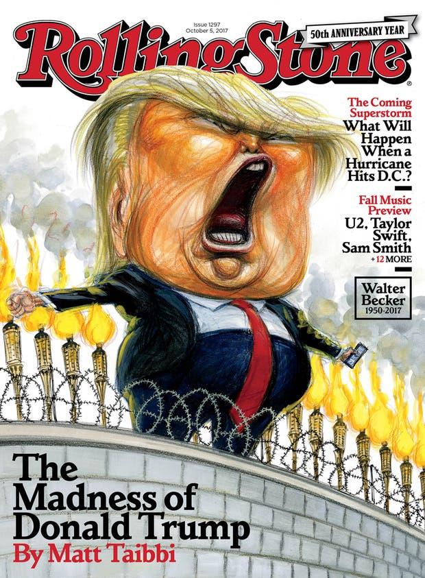 Rolling Stone le dedica la tapa a un desquiciado Donald Trump