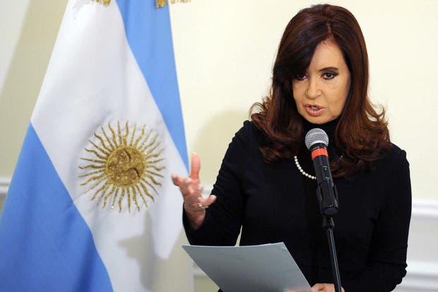 La presidenta, Cristina Kirchner