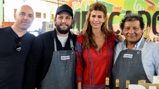 Awada charló con productores y cocineros
