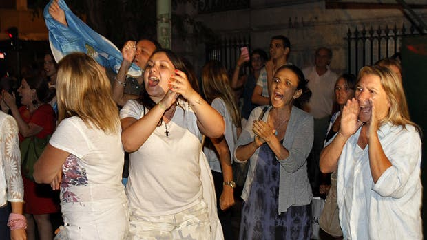 Manifestantes contra Cristina Kirchner en Palermo