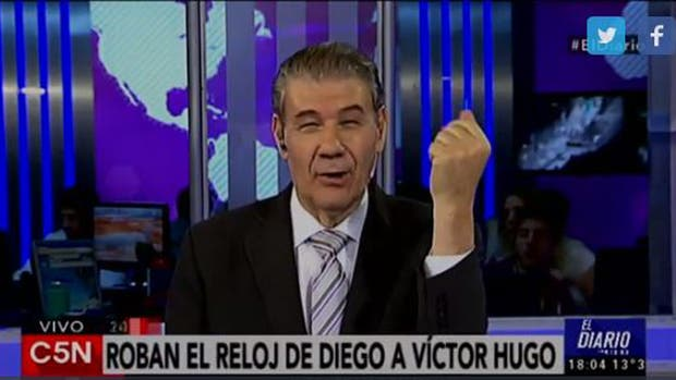 Víctor Hugo Morales fue asaltado por motochorros