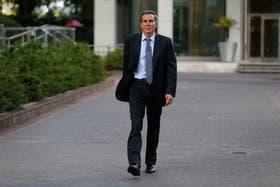 Alberto Nisman, horas después de haber presentado su denuncia contra Cristina Kirchner, y cuatro días antes de que sea hallado muerto en su departamento