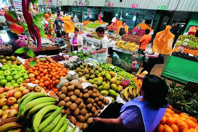 La Vega Central, al norte del Mercado Central