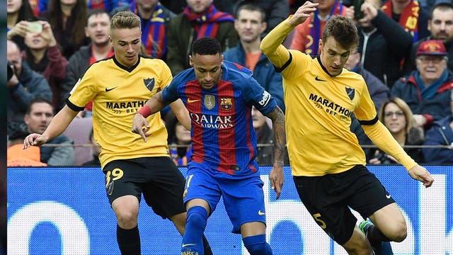 Neymar no pudo con la resistencia del Málaga